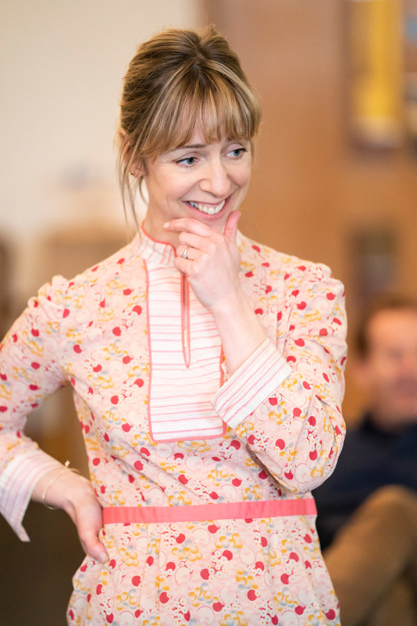 Claudie Blakley in Consent rehearsals (Photo: Johan Persson)