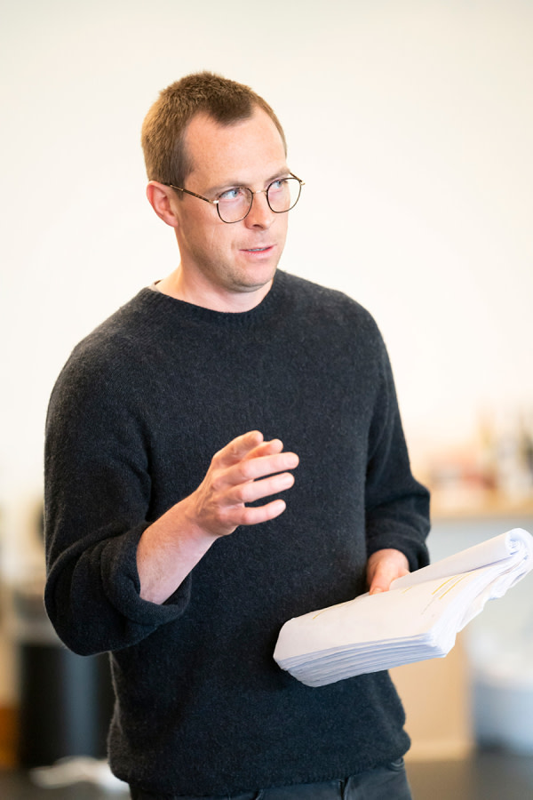 Stephen Campbell Moore in Consent rehearsals (Photo: Johan Persson)