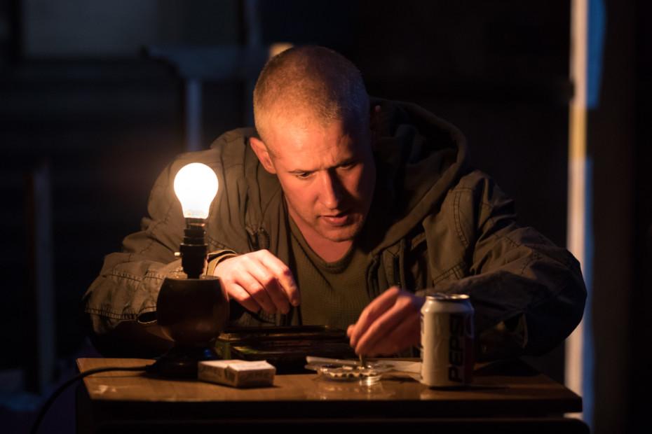 Adam Gillen as Chris Smith - Killer Joe at Trafalgar Studios - Photographer Credit Marc Brenner