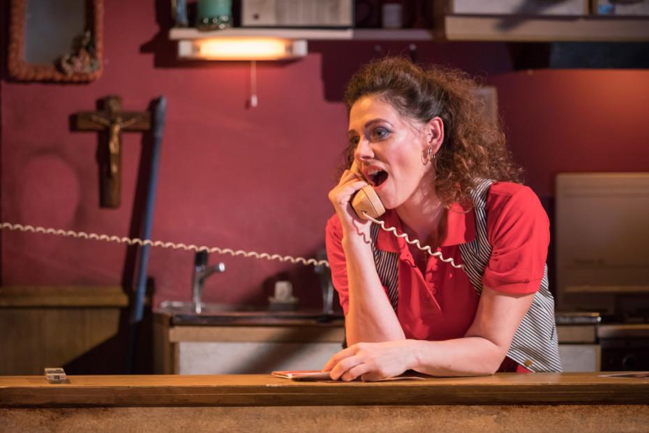 Neve McIntosh as Sharla Smith - Killer Joe at Trafalgar Studios - Photographer Marc Brenner