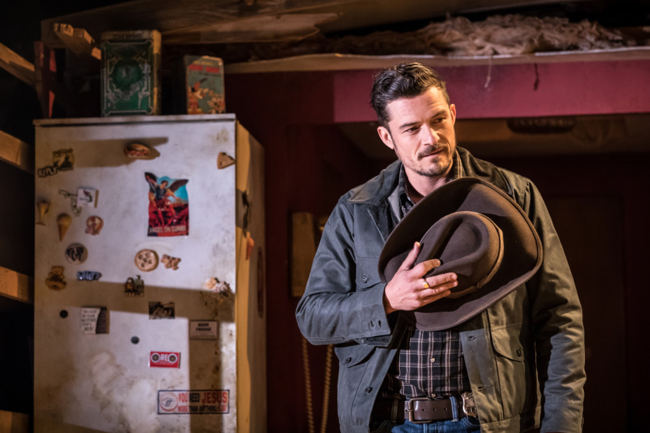 Orlando Bloom in Killer Joe and Joe Cooper at Trafalgar Studios - Photographer Marc Brenner