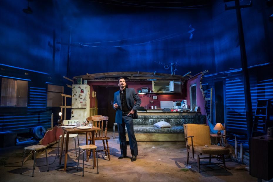 Orlando Bloom in Killer Joe as Joe Cooper at Trafalgar Studios - Photographer Marc Brenner