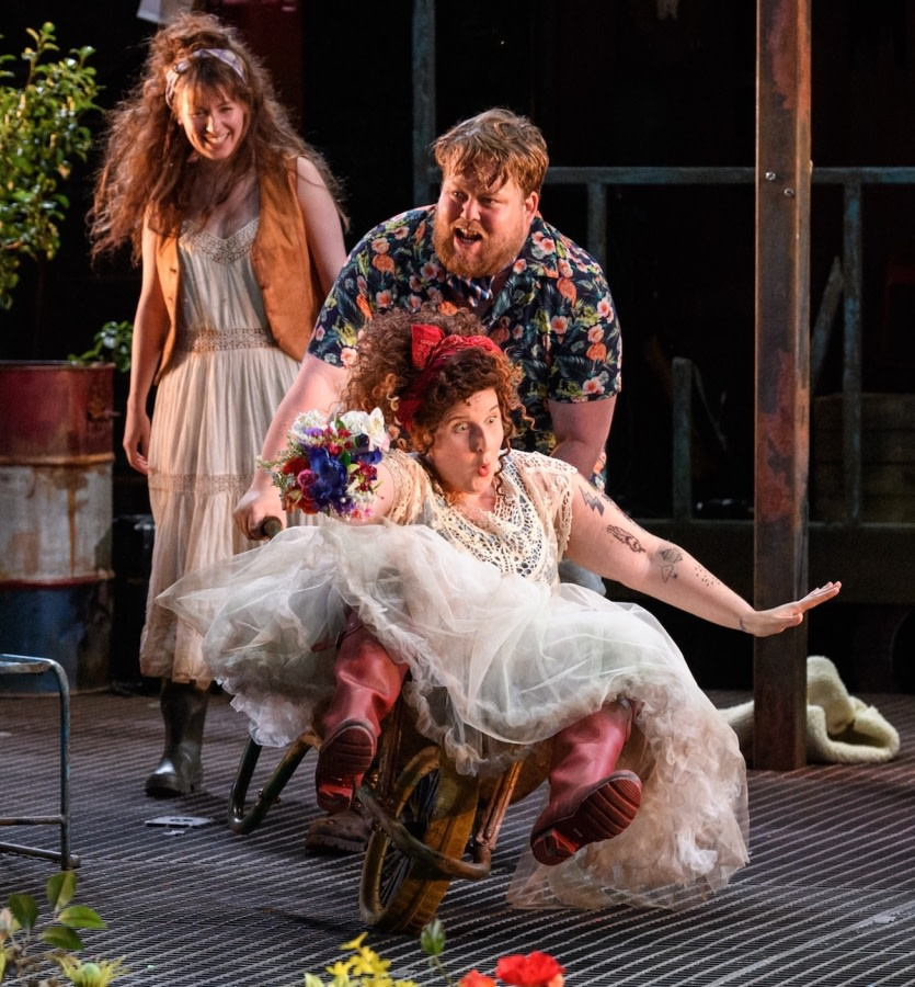 As You Like It. Joanne McGuinness, Danny Kirrane and Amy Booth-Steel. Photo Jane Hobson.