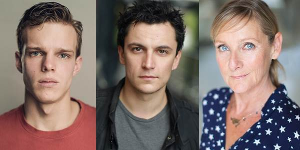 Finn Bennett, Tom Mothersdale and Lesley Sharp