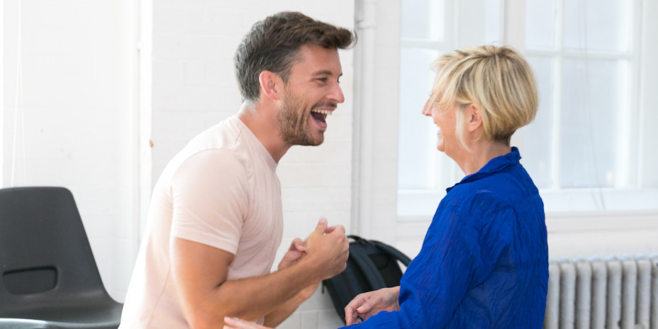 Jonathan Bailey and Marianne Elliott by Darren Bell