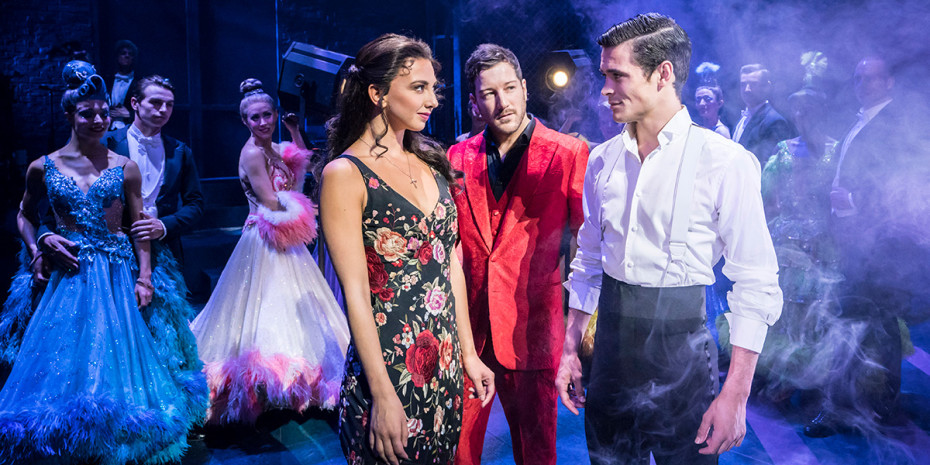 Jonny Labey, Zizi Strallen & Matt Cardle in Strictly Ballroom (Photo: Johan Persson)