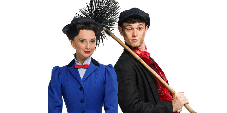 Zizi Strallen (Mary Poppins) and Charlie Stemp (Bert) in Mary Poppins (Photo: Seamus Ryan)