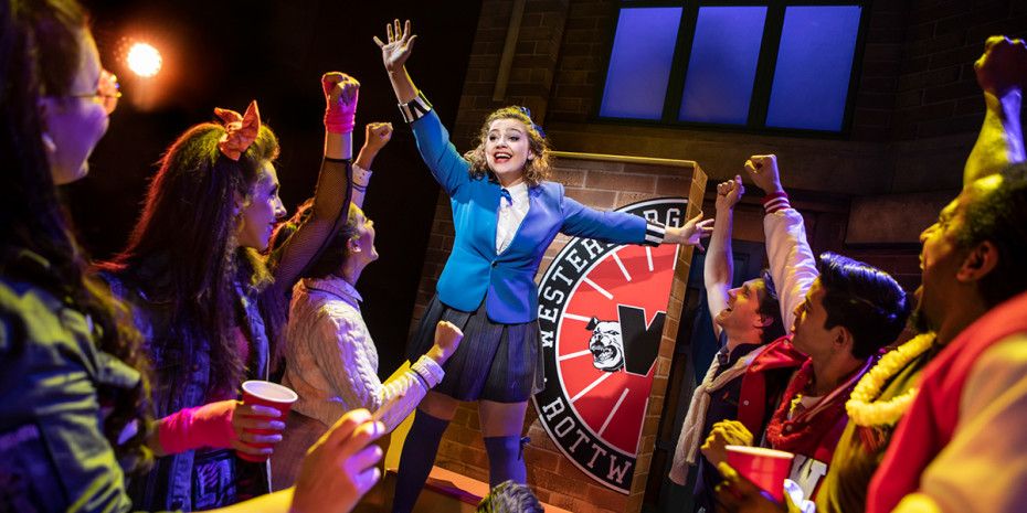 Carrie Hope Fletcher (Veronica Sawyer) in Heathers The Musical (Photo: Pamela Raith)