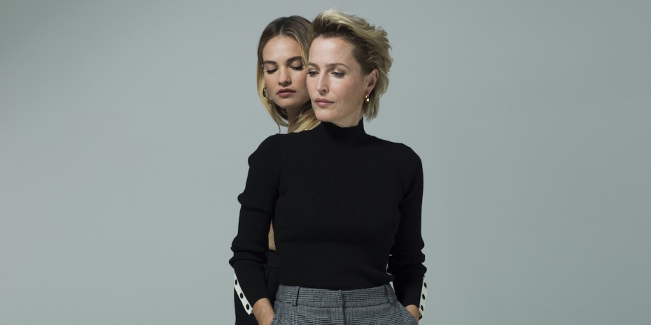 All About Eve Gillian Anderson and Lily James. Photo by Perou