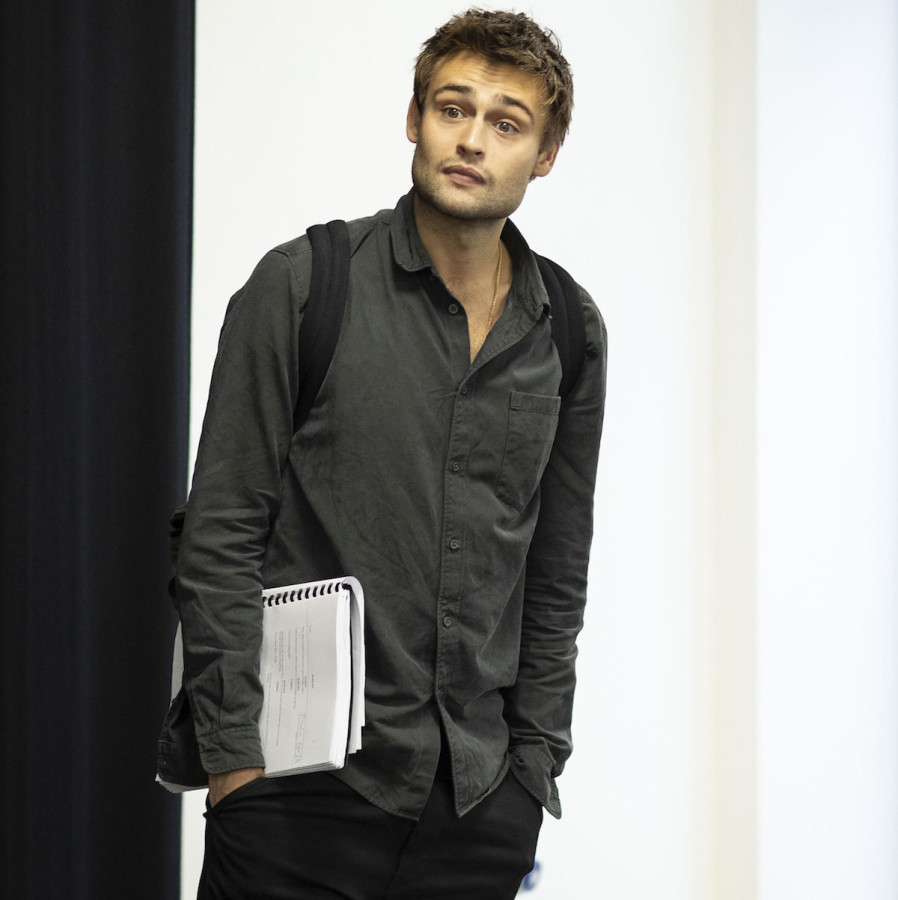 Douglas Booth in rehearsals for A Guide For The Homesick. Photo by Helen Maybanks