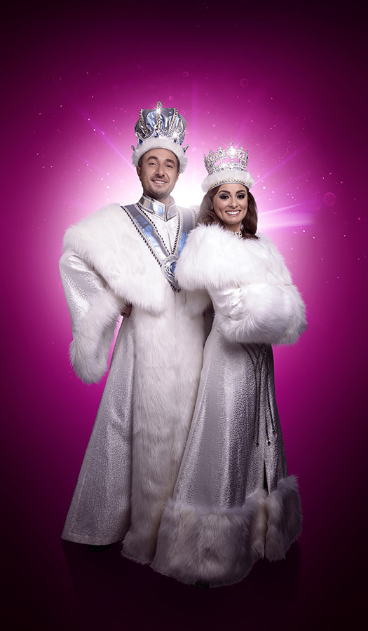 Vincent Samone (The King) and Flavia Cacace (Mistry) in Snow White (Photo: Paul Coltas)