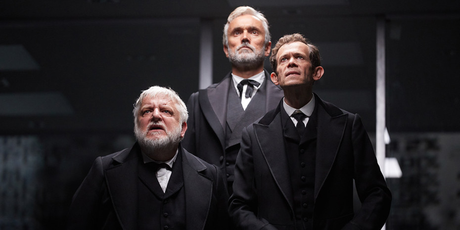 Simon Russell Beale, Ben Miles and Adam Godley in The Lehman Trilogy at the National Theatre (Photo: Mark Douet)