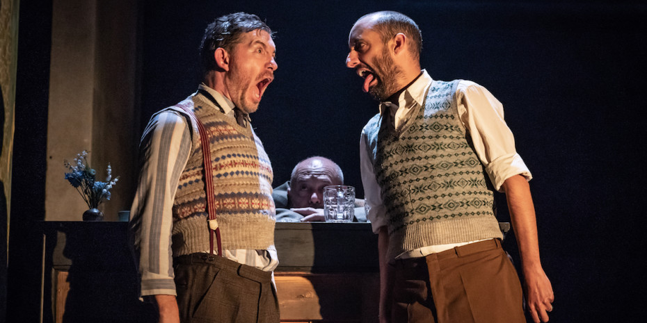 Lee Evans and Tom Edden in Pinter Three. Photo credit Marc Brenner