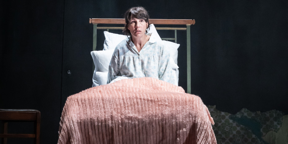 Tamsin Greig in Pinter Three. Photo credit Marc Brenner
