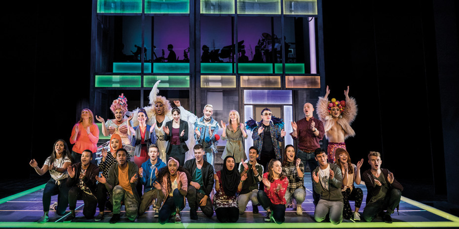 Cast of Everybody's Talking About Jamie at the Apollo Theatre (Photo: Matt Crockett)