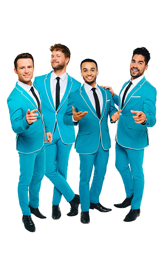 Harry Judd, Jay McGuiness, Aston Merrygold and Louis Smith will star in Rip It Up - The 60s
