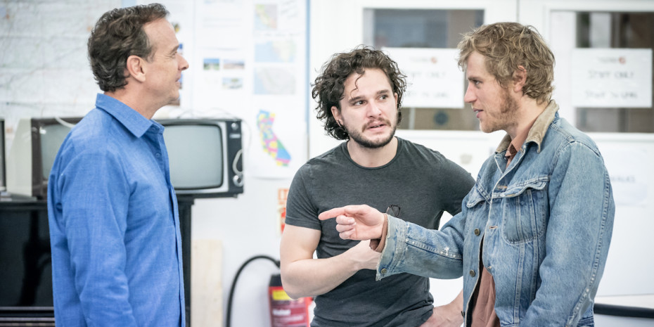 Kit Harington and Johnny Flynn in rehearsals for True West