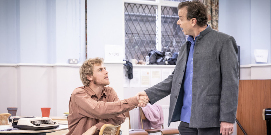Johnny Flynn in rehearsals for True West
