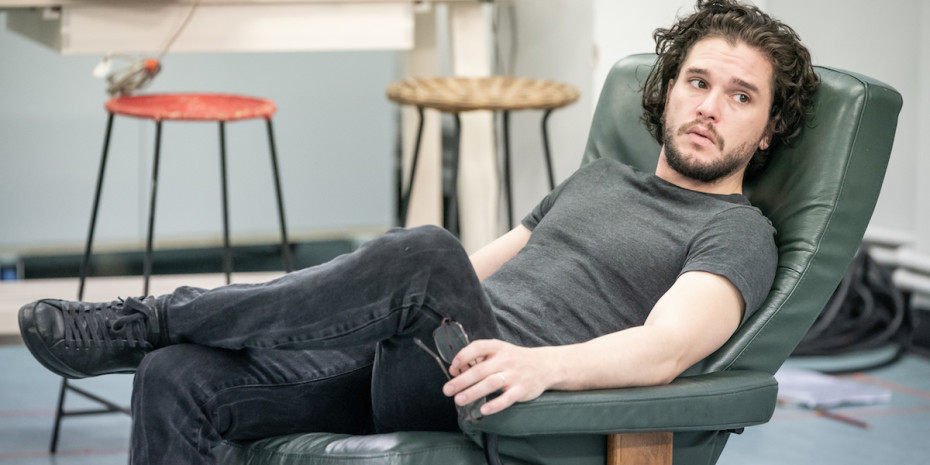 Kit Harington and in rehearsals for True West
