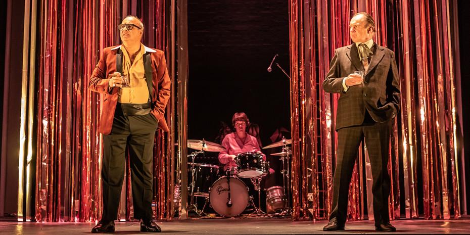 Peter Polycarpou, Abbie Finn and Robert Glenister in Pinter Four. Photo credit: Marc Brenner.