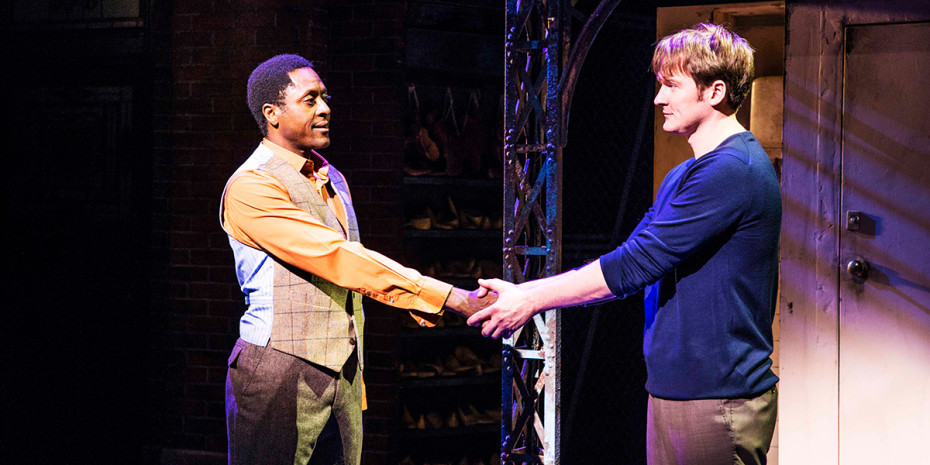 Matt Henry (Lola) and Killian Donnelly (Charlie) in Kinky Boots (Photo: Matt Crockett)