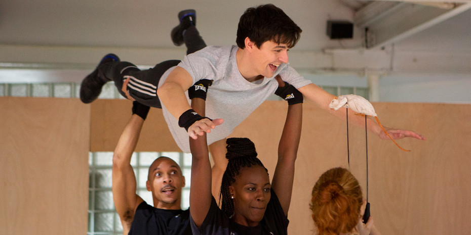 Joshua Jenkins in The Curious Incident Of Dog In The Night-Time rehearsals (Photo: Ellie Kurttz)