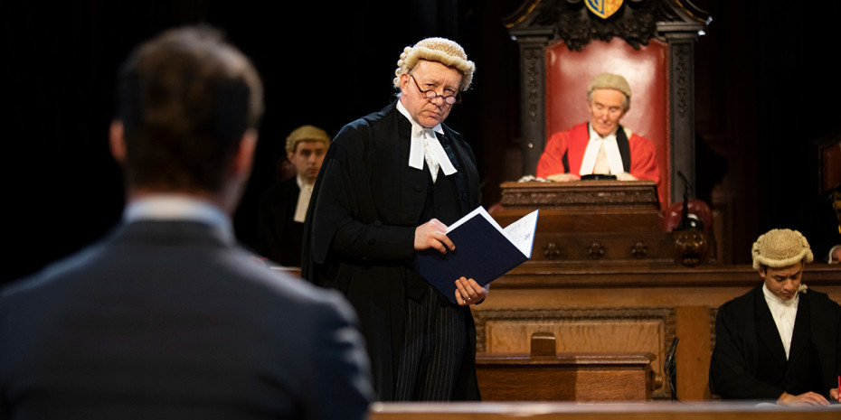 Jasper Britton in Witness For The Prosecution (Photo: Ellie Kurttz)