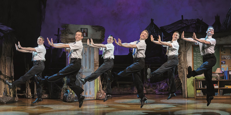 The cast of The Book Of Mormon London, now playing at the Prince Of Wales Theatre (Photo: Johan Persson)