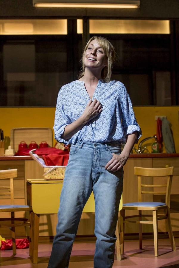 Rebecca McKinnis (Margaret) in Everybody's Talking About Jamie at the Apollo Theatre. Photo credit Johan Perrson