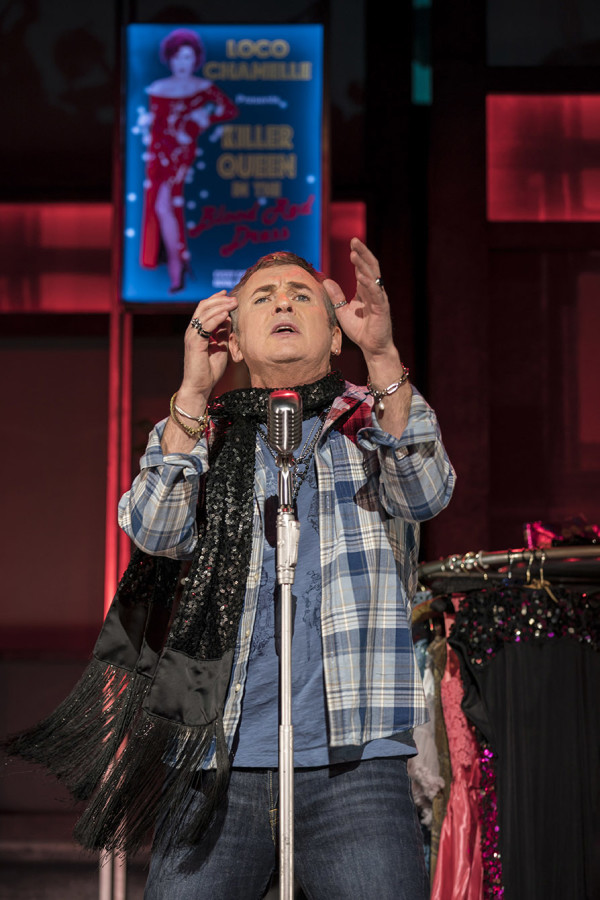 Shane Riche (Hugo) in Everybody's Talking About Jamie at the Apollo Theatre. Photo credit Johan Perrson.