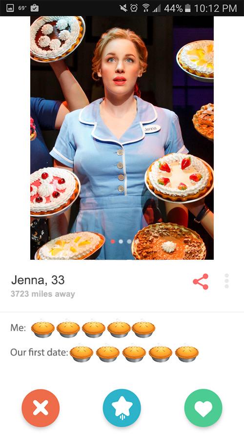 Jenna's tinder profile