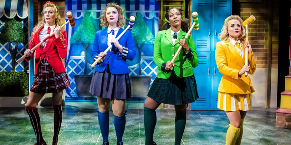 Jodie Steele, Carrie Hope Fletcher, T'Shan Williams and Sophie Isaacs in Heathers The Musical