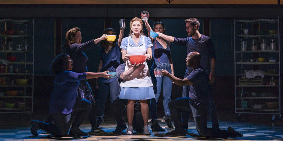 Katharine McPhee as Jenna in Waitress. (Photo credit Johan Persson)
