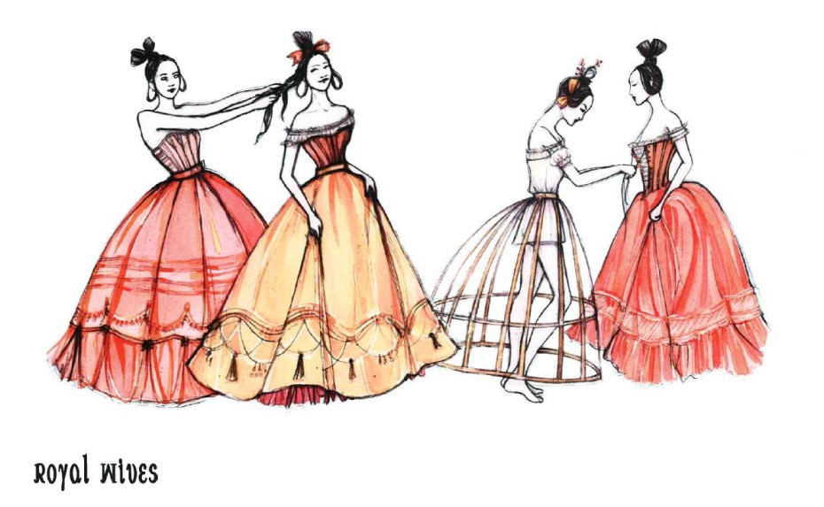 The King And I costume designs (Credit: Catherine Zuber)