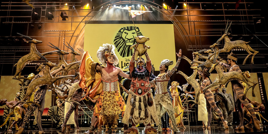 Celebrating their 20th anniversary, the cast of Disney's The Lion King perform Circle of Life