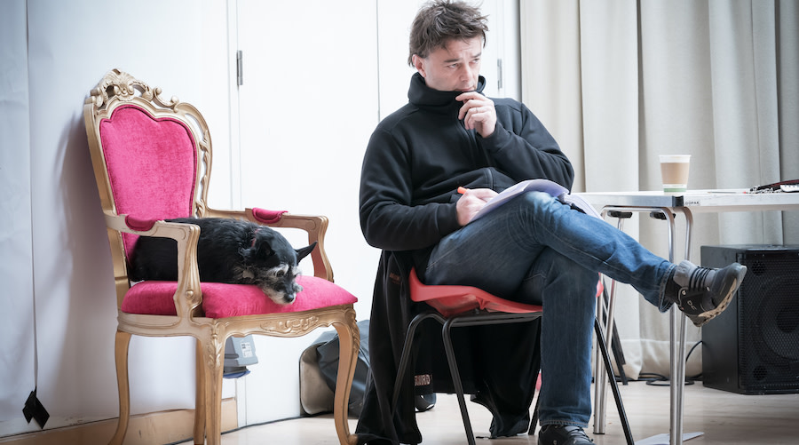 Edward Hall Director and Dennis in rehearsals for Jude at Hampstead Theatre. Photo credit Marc Brenner.
