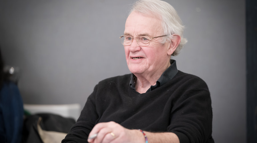 Howard Brenton Writer in rehearsals for Jude at Hampstead Theatre. Photo credit Marc Brenner.