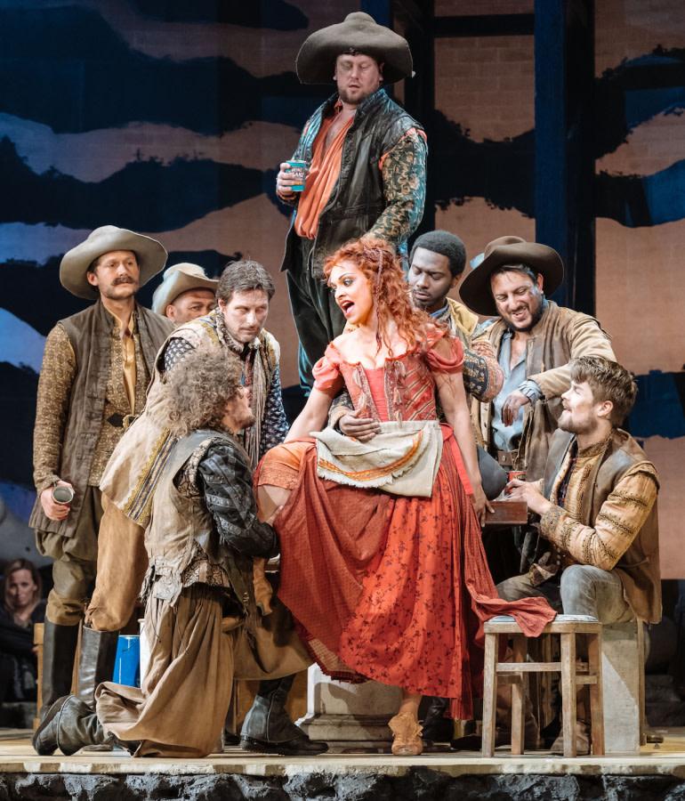Danielle de Niese and company in Man Of La Mancha by Manuel Harlan