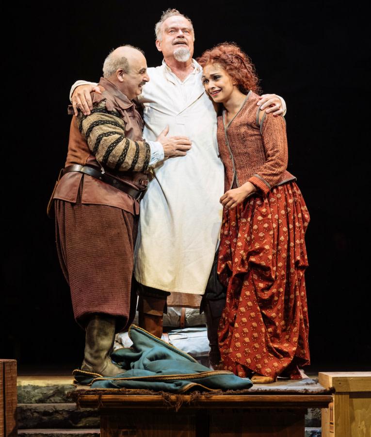 Kelsey Grammer, Peter Polycarpou and Danielle de Niese in Man Of La Mancha by Manuel Harlan
