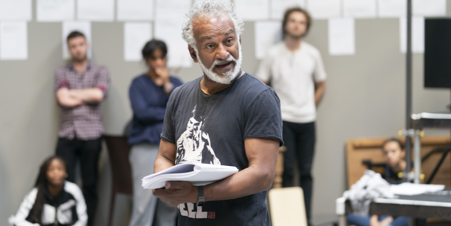 Jim Findley (Joe Stoddard) in rehearsals for Our Town at RPOAT. Photo Johan Persson.