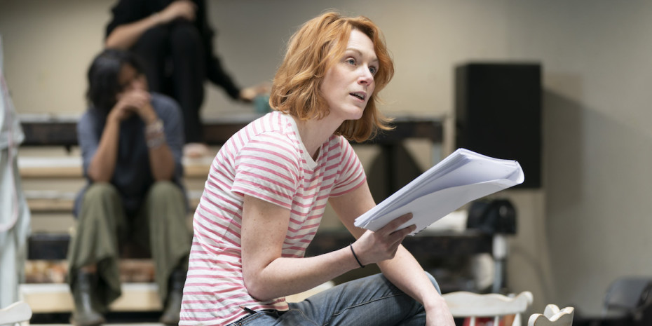 Laura Rogers (Stage Manager) in rehearsals for Our Town at RPOAT. Photo Johan Persson. (3)