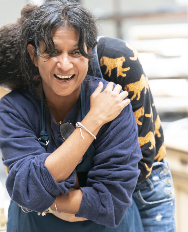 Thusitha Jayasundera (Mrs Webb) in rehearsals for Our Town at RPOAT. Photo Johan Persson. (2)