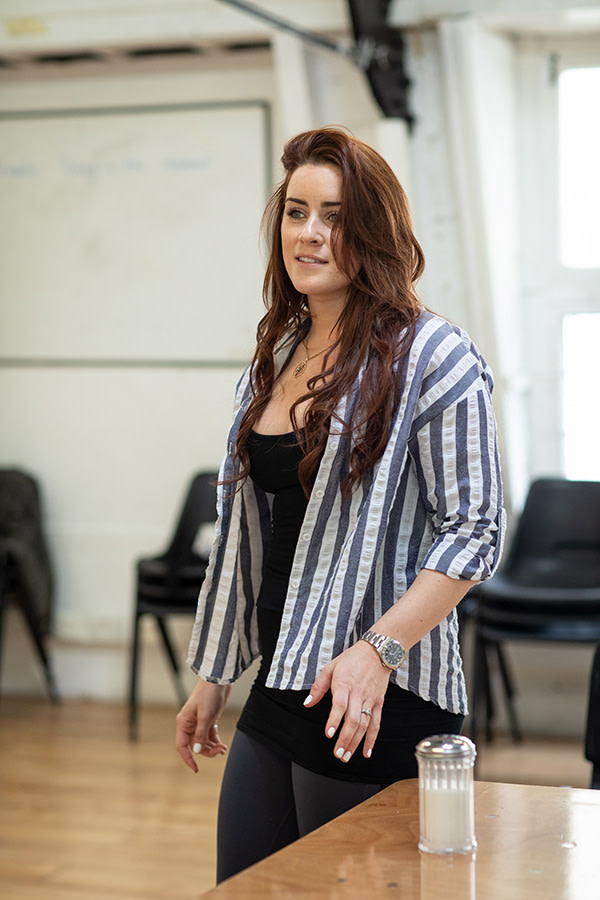 Lucie Jones in Waitress rehearsals (Photo: Helen Maybanks)