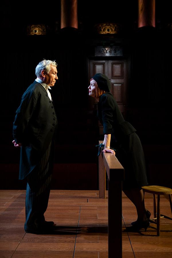 Simon Dutton and Carolin Stoltz in Witness For The Prosecution (Photo: Ellie Kurttz)