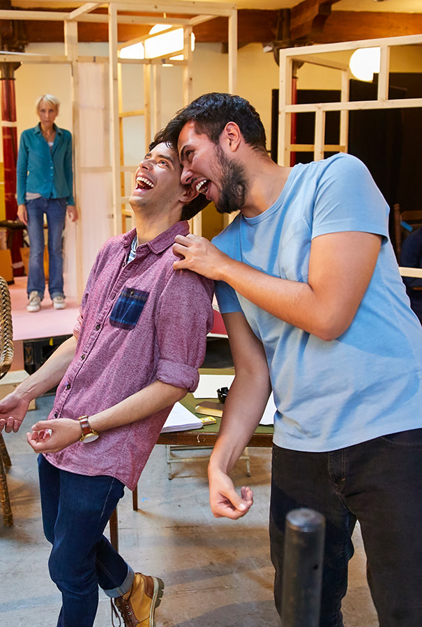Manuel Pacific and Daniel Chaves in rehearsal for The Night Of The Iguana (Photo: Brinkhoff/Moegenburg)