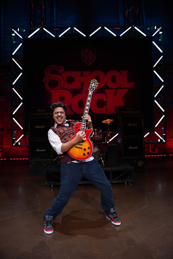 Noel Sullivan as Dewey Finn in School Of Rock - The Musical (Photo: Craig Sugden)