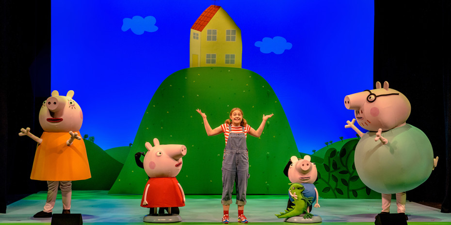 The cast of Peppa Pig's Best Day Ever. Photo by Dan Tsantilis.
