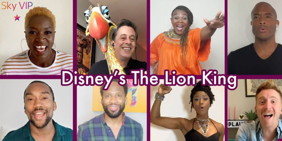 Stars from The Lion King in our virtual Behind The Scenes with Sky VIP