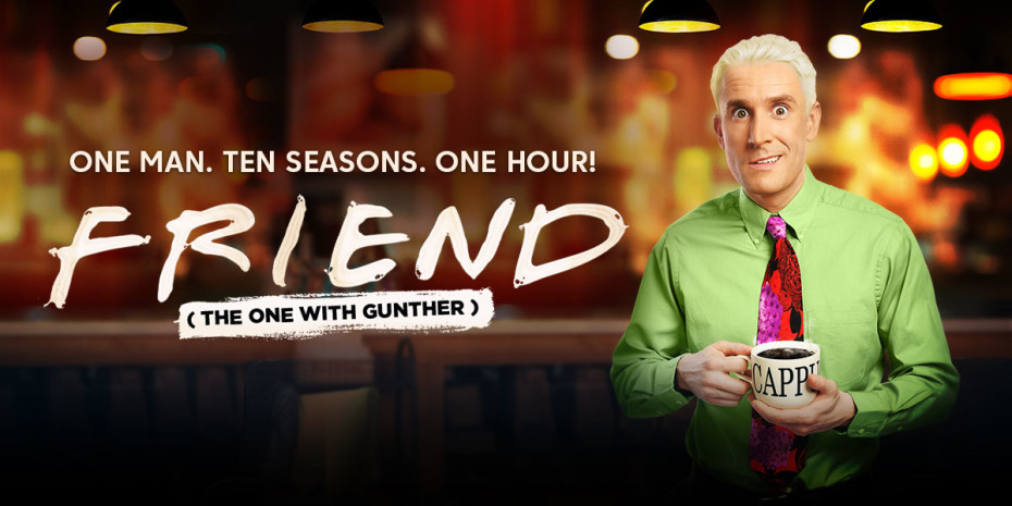 Friend logo with an actor portraying Gunther