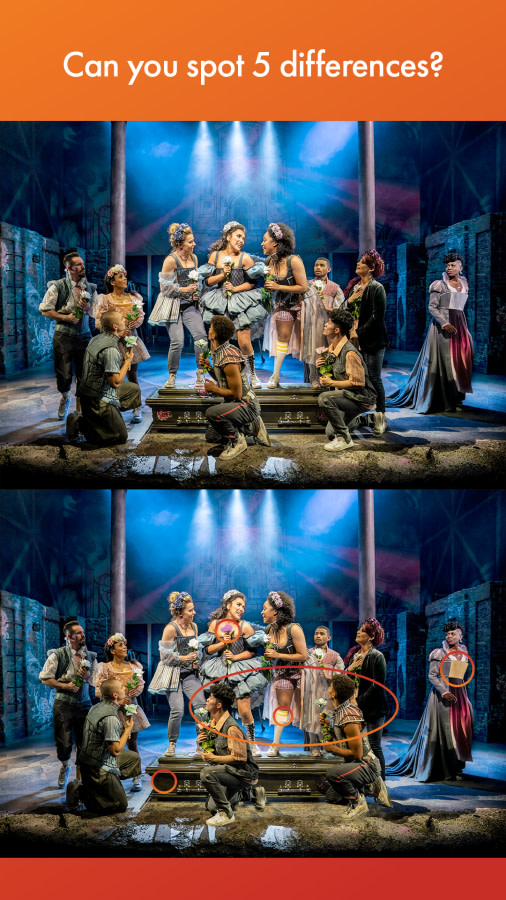 The company of & Juliet-Spot the difference game